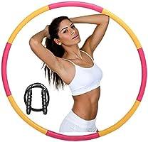 ACPURI Hula Hoop Reifen Erwachsene, Fitness Hoola Hoop Kinder Schaumstoff, Abnehmbarer 6-8 Knotens, Φ95cm/1,2 kg - mit...