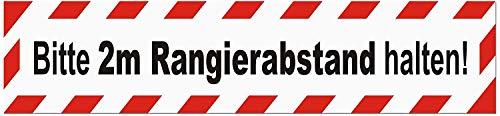 LOHOFOL Magnetschild Bitte 2m Rangierabstand halten | Schild magnetisch | lieferbar in DREI Größen (35 x 8 cm)