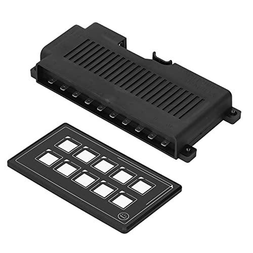 Panneau de Commutation RV, Panneau de Commutation à télécommande avec Module de rétro-éclairage Tactile LED pour Bateau de Camping-Car