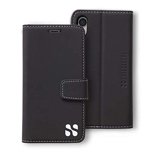SafeSleeve EMF Protection Anti Radiation iPhone Case: iPhone XR RFID EMF Blocking Wallet Cell Phone Case (Black)