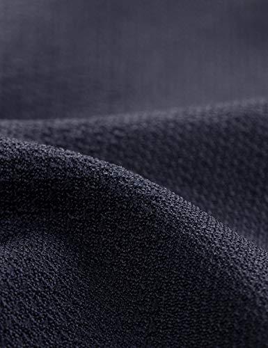 CRZ YOGA Women's Active Long Sleeve Sports Running Tee Top Seamless Leisure T-Shirt Black L (UK 14)