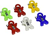 Adams People Shaped Magnet Clips, Assorted Color, Set of 6 - 3303-50-0569