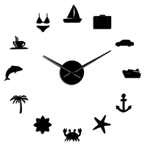 Reloj de pared Sin marco Viajes Viajar Diy Reloj de pared Hawaii Vacaciones de verano Reloj Reloj Amigos y familia Vacaciones Viaje alrededor del mundo Para sala de estar Dormitorio Cocina, etc.