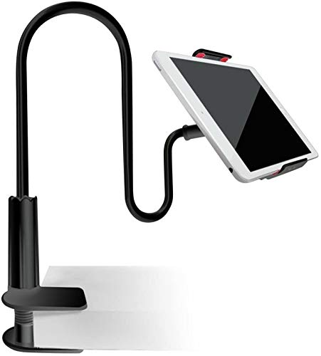 Stands Soporte de moda para tablet con cuello de cisne para dispositivos de 4 a 7.2 pulgadas, rotación de 360 grados, brazo flexible Ban Lu Yi (color: negro)