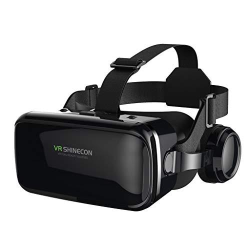 Blesiya Realidad Virtual VR Auriculares 3D Gafas Cascos VR Gafas para TV películas Videojuegos Compatible con iOS Android Windows Compatible con 4,7-6,53
