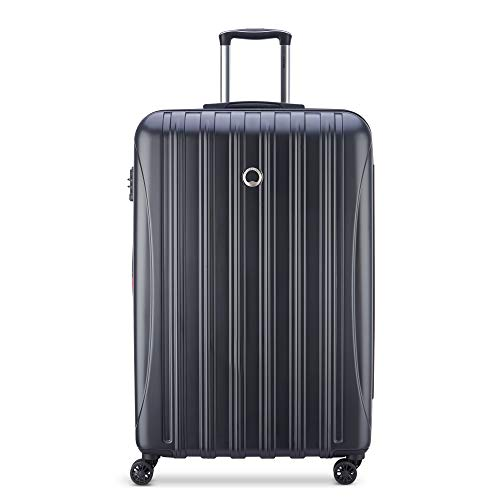 DELSEY Paris Helium Aero Hardside Expandable Luggage with Spinner Wheels, Matte Black, Checked-Large 29 Inch