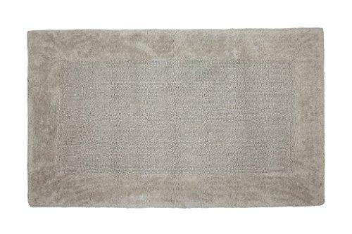 Casalanas - Levante, Strisce Moderni, Soild Tappetino da Bagno, 100% Cotone Naturale, 60x100 cm, Beige