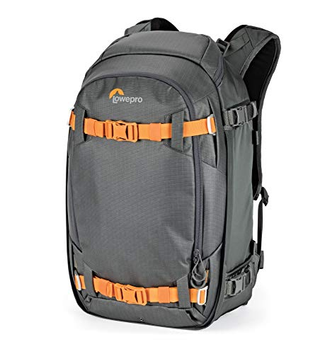 Lowepro Whistler BP 350 AW II 4 Season Outdoor Backpack for Pro DSLR and Mirrorless Cameras, Laptop and Outdoor Gear LP37226-PWW, Grey