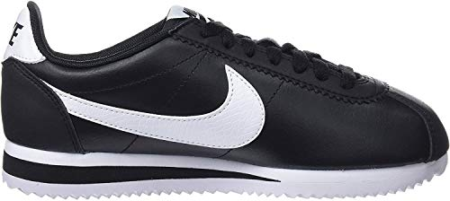 Nike Damen Classic Cortez Leather Laufschuhe, Schwarz (Black/White-Black 016), 38 EU