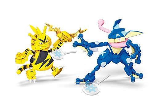 Mattel - Mega Construx Pokemon figuras Greninja vs. Electabuzz juguete niños + 6 años (...