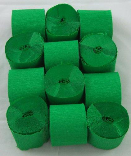 12 Verde Claro. Papel crepé serpentinas 45mm x 10metros. 14 colores vibrantes siempre en stock