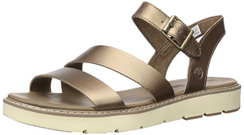 Price comparison product image Timberland Women's Bailey Park Summer Platform Sandals Flat,  Gold Full Grain,  6.5 Medium US