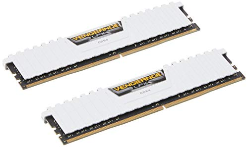 Corsair Vengeance LPX Memorie per Desktop a Elevate Prestazioni, 16 GB (2 X 8 GB), DDR4, 3000 MHz, C16 XMP 2.0, Bianco