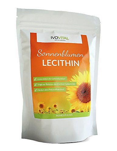 Sonnenblumen Lecithin Pulver, IVOVITAL® (allergenfrei und gvo-frei) (600 g)