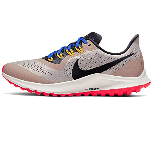 Nike Air Zoom Pegasus 36 Trail Women's Running Shoe Pumice/Oil Grey-Pacific Blue Size 7.5