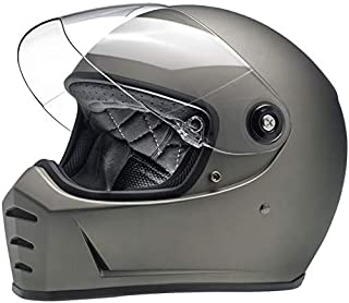 Biltwell Lane Splitter casco de motocicleta de cara completa de titanio plano