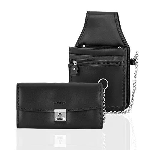 SWISSONA Set Kellnertasche inkl.Geldbeutel mit Kette gesichert, in schwarz