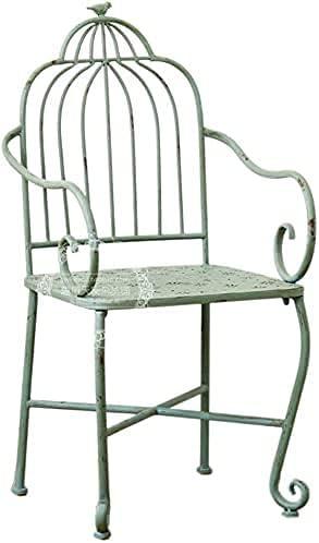 Banco al aire libre Banco de patio, muebles de porche delantero, taburete de patio de hierro forjado retro, banco de metal de jardín para terraza al aire libre, silla de decoración de porche en f