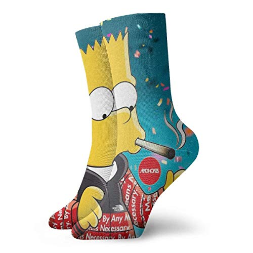 AOOEDM Simpson fashion Calcetines deportivos transpirables para hombres y mujeres.