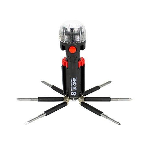Tool Tech 53390 8-in-1 multi-herramientas destornillador con linterna