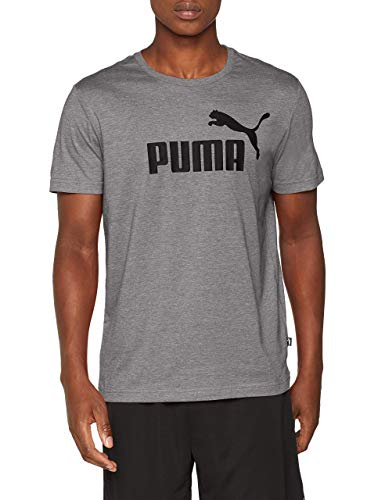 PUMA Herren T-Shirt Essentials Tee – Casual Baumwoll-Shirt mit geripptem Rundhals-Kragen Logo Essentials Tee Cotton Black 3XL
