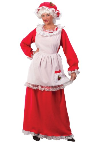 Mrs Claus Costume Standard Red