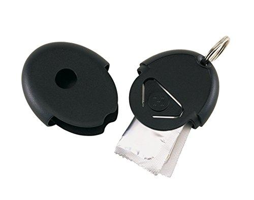Schlüsselanhänger Flirt mit integriertem Kondomfach 6 x 4,3 x 1,5 cm ohne Schlüsselband