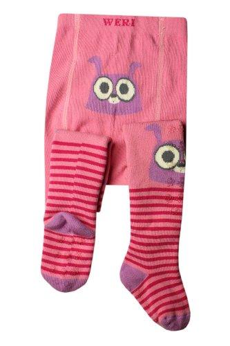 Weri Spezials Unisexe-Bebes ABS Lapin Collants 12-18 Mois (80/86) Rose