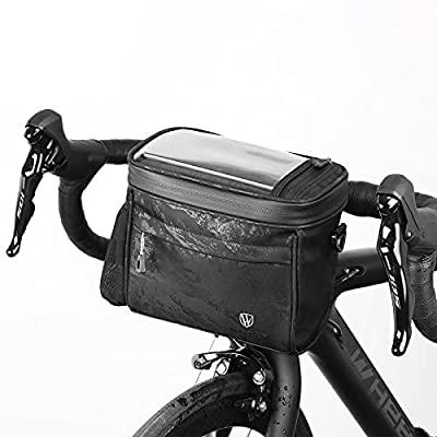 Bicycle Handlebar Bag Sensitive Touch Screen Bike Frame Bag Waterproof MTB Bike Phone Mount Holder Pouch Bag for Smart Phone Up to 6.7 inch, Multifunctional 4.2L Cycling Pannier Bag for Men Women