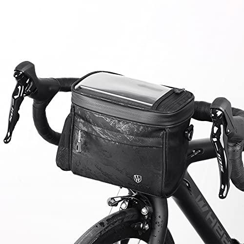 Achort Bolsa para manillar de bicicleta, pantalla táctil sensible, impermeable, bolsa de bicicleta para teléfono inteligente de hasta 6,7 pulgadas, multifuncional 4,2 l