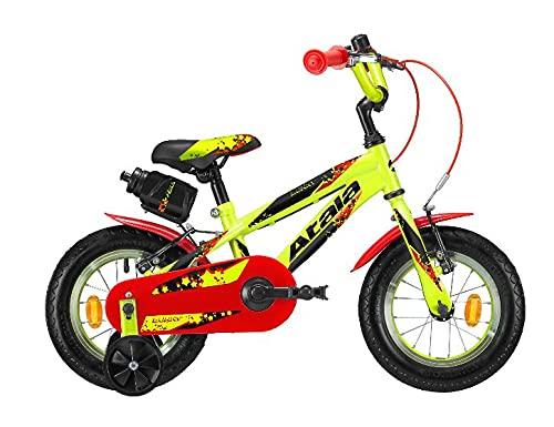 Bicicletta da bambino Atala Bunny Boy modello 2021, colore giallo-blu, 1 velocità