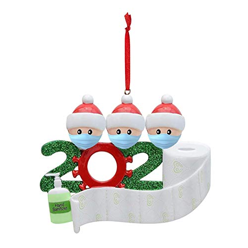 drunkilk,Personalized Family of Ornament 2020 Christmas Holiday Decorations,Indoor Christmas Decorations (L)