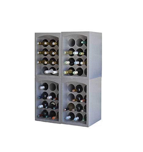 Maisange Eda 10710 (48) - Botellero de poliestireno, 12 años de duración a 72 botellas