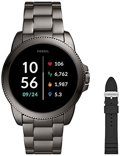 Fossil Herren Touchscreen Smartwatch 5E. Generation mit Lautsprecher, Herzfrequenz, GPS, NFC und Smartphone Benachrichtigungen