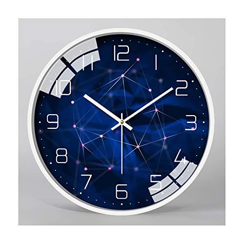 XMBT Stille Wanduhr Einfache römische Ziffern Quarzuhren-Runde hängende Uhr ohne tickendes stilles Kehren Sekunden große Wanduhr Tickende Modeuhren,Size: 16 inch