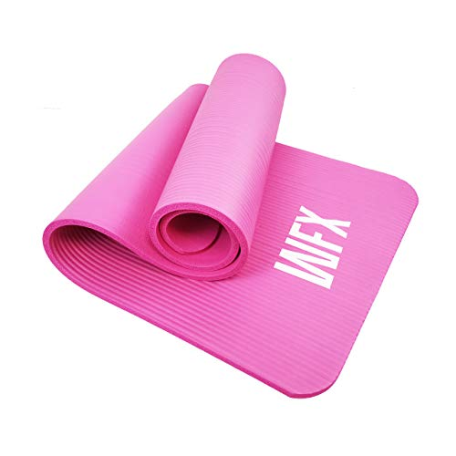 World Fitness - Fitnessmatte Yogamatte »Yamuna« - 183 x 61 x 1,5 cm - rutschfest & robust - Gymnastikmatte ideal für Yoga, Pilates, Workout, Outdoor, Gym & Home - Pink