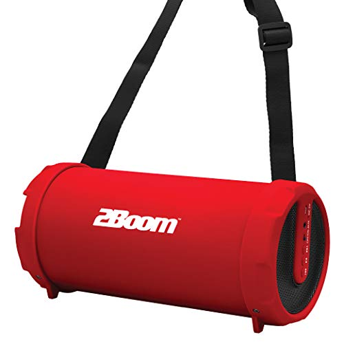 2BOOM BX320 Rechargeable Wireless Bluetooth Portable Outdoor Speaker (Red)
