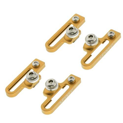 Amagogo 2 Paare Zusammenklappbare Rennrad Bremsbeläge C Bremsen - Goldene