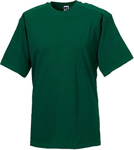 Russell Collection - T-shirt - - Manches courtes Homme - Vert - Green - Bottle Green - XXXXL