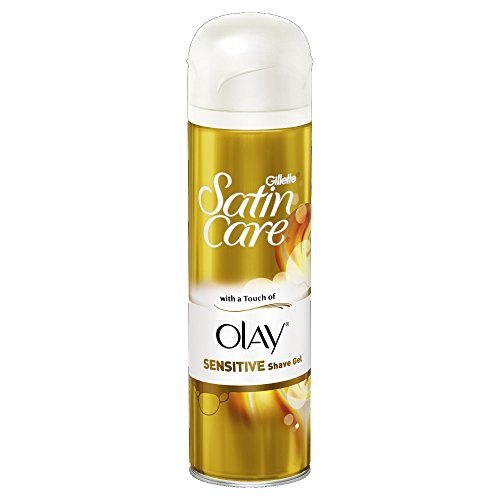Gillette Satin Care With Touch of Olay Gel de afeitado sensible, 200 ml