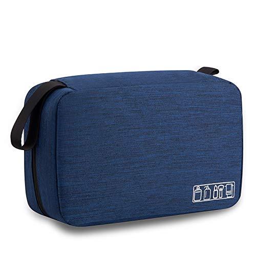 Trousse d'hygiène de voyage pour homme et garçon, étanche, à suspendre, trousse de toilette, sac de rangement pour salle de bain (bleu marine)