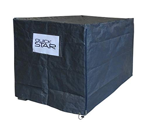 QUICK STAR Gitterbox Abdeckung 125x85x95cm Grau PE Gewebefolie Schutzhülle Abdeckplane Staubschutz Versandtasche