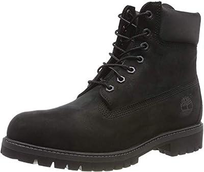 Timberland Men's 6 inch Premium Waterproof Boot, Black Nubuck, 9.5