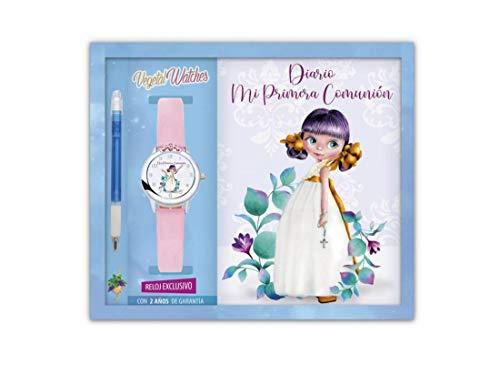 Set de comunión Diario, Reloj, Bolígrafo Niña Arguval