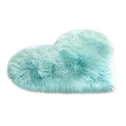 DOGSAYS Zapatos para perros de peluche en forma de corazón, antideslizante, para salón, alfombra de estilo dulce y chicas, cojín de lana para dormitorio, sofá o alfombra