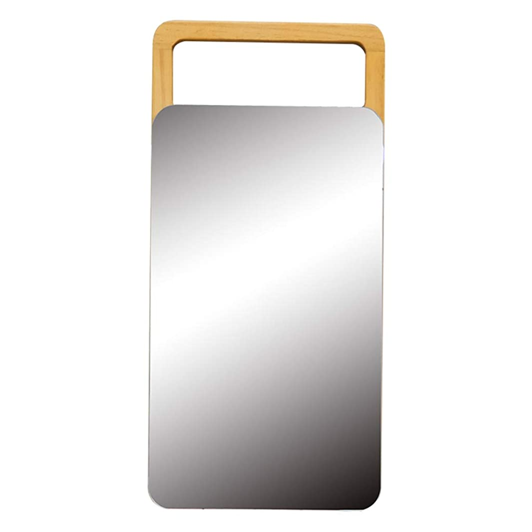起点安全毒性GX デスクトップミラーヨーロッパミラーシンプルな木製ミラーポータブル木製デスクトップミラーFoldable HD Beauty