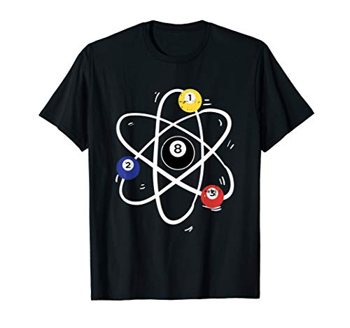 Vintage Pool Billard Kugel Atom Lustiges Billard T-Shirt