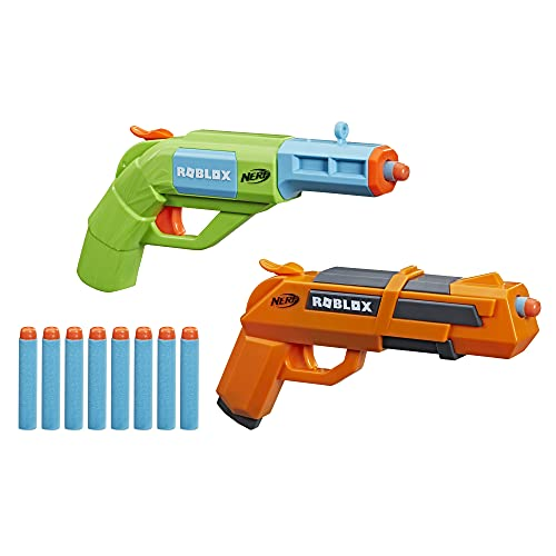 NERF Roblox Jailbreak: Armory, Includes 2 Hammer-Action Blasters, 10 Elite Darts, Code to Unlock in-Game Virtual Item
