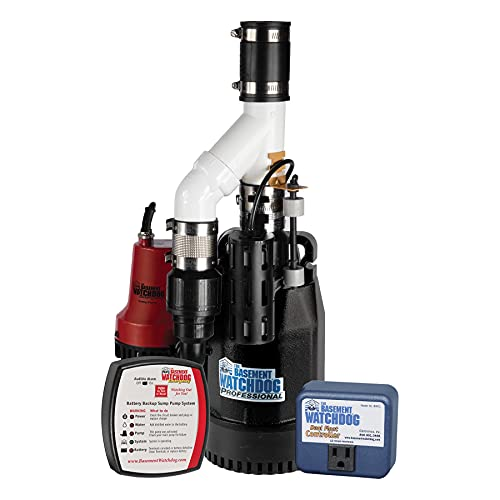 THE BASEMENT WATCHDOG Combo Model CITE-33 1/3 HP Primary and Battery Backup Sump Pump System with 24 Hour a Day Monitoring Controller