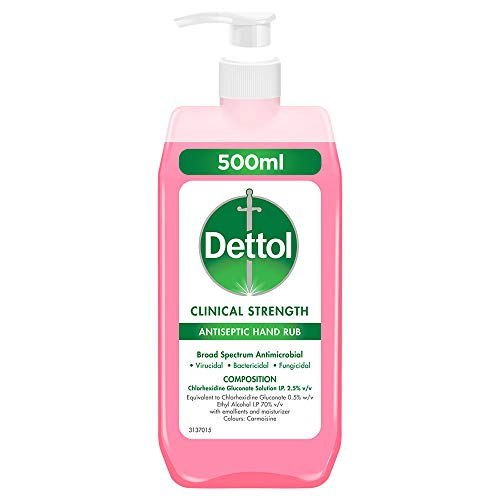 Dettol Clinical Strength Antiseptic Hand Sanitizer, 500ml